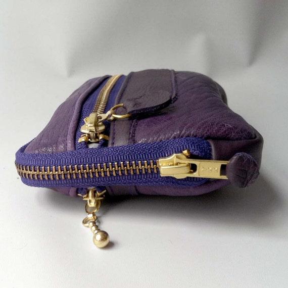 6 pocket wallet in purple