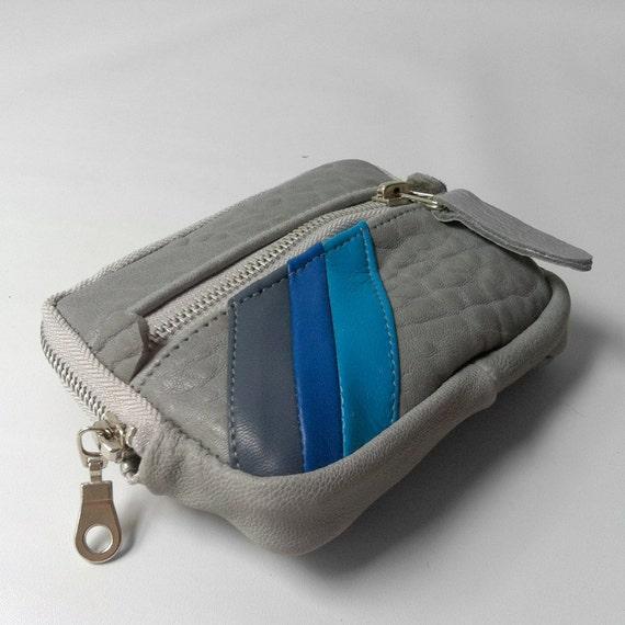 Wallet in grey/blue