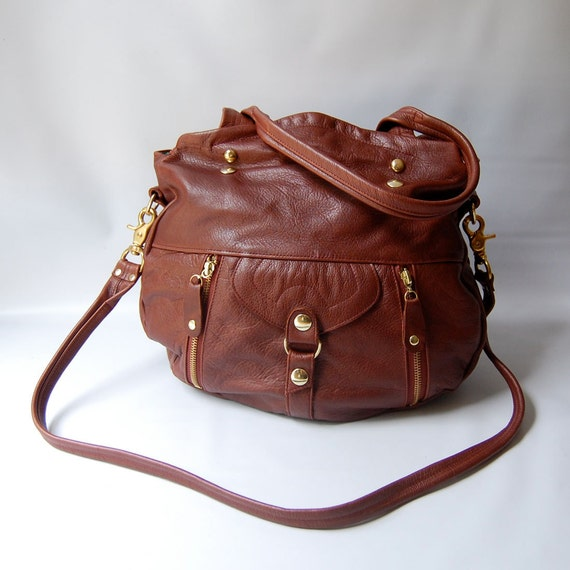 Ready to ship - Lynx bag in chestnut - SALE