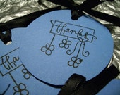 Im Blue Thank You Gift Tags
