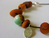 Small Timber Necklace - Australian Recycled Wood Silver and Fresh Water Pearls