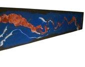 The Energy - Huge Original Painting On Textured Wood..