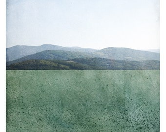 Pole Emeraude (Landscape Photography - Fine Art Print - Mountains - Minimal Wall Art - Color Block - Emerald Green)