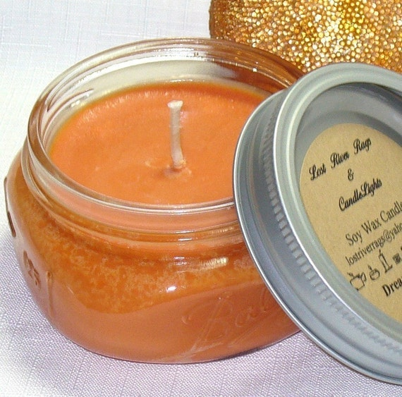 Soy Wax Candle - Dreamcicle Scent - Cotton