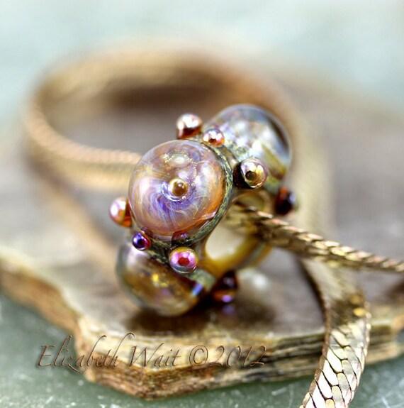 Fire Opal Galaxy 7465 Handmade Glass Bead BHB betsybeads Lampwork Large Hole Bead SRA