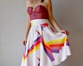 full GEOMETRIC skirt / high waisted circle skirt