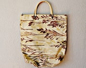 tiny TREE tote / 1960s novely shopper bag