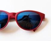vintage CAT EYE sunglasses / vintage 1980s mirror lenses DEADSTOCK glasses