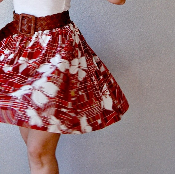 geometric CIRCLE skirt / ART DECO print skirt