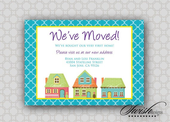 Moving Announcement | Digital Download | Printable I've Moved Cards | First home | Housewarming | new home | 5x7 digital card