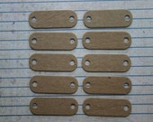 10 mini oval tag bare chipboard diecuts