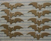 10 Bare Chipboard Small Halloween Bat Diecuts 2 inches wide x 1/2 inch tall