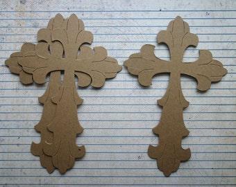 3 Large Cross Bare chipboard die cuts Diecuts