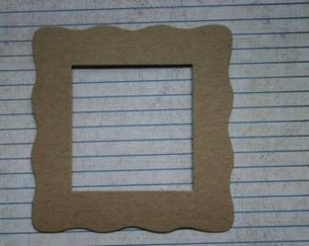 3 Bare chipboard Square wavy Frame Die cuts