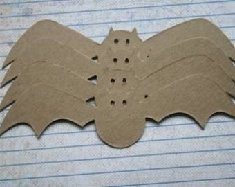 4 Bare/Unfinished Extra Large Chipboard Halloween Bat Diecuts