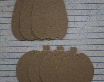 Halloween 6 Bare Chipboard Pumpkin Diecuts 2 different sizes