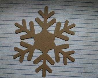 3 Bare chipboard die cuts Large Snowflake Diecuts Style no.7