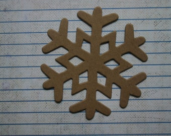 3 bare chipboard die cuts medium sized snowflakes 3 inches