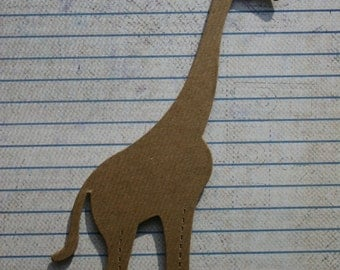 3 Bare chipboard die cut giraffe diecuts