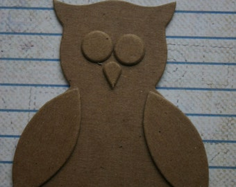 4 Bare chipboard small owl diecuts build it your way