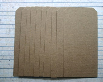 "10 Bare Chipboard Shipping Tags without a hole on top 2 5/16"" x 4 3/4"""
