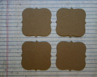 4 Bare chipboard die cuts Square Bracket Die cuts 2 1/2""