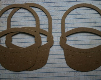 3 Bare chipboard die cuts Baskets die cuts