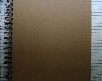 "8 1/2"" x 11"" bare Chipboard die cut wire bound album or journal 10 Pages"