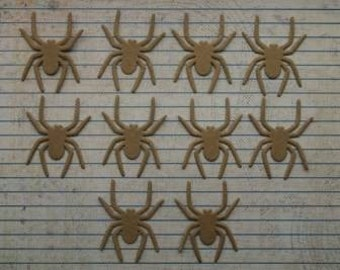 10 Bare chipboard die cuts Halloween Spider Diecuts 1.5 inches wide