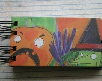 Halloween Bookboard Brag Book 6 pages 4 7/8 inches x 2 1/2 inches