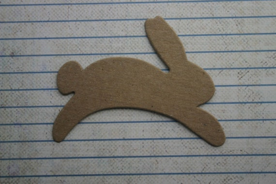 4 Hopping Bunny Rabbit Bare Chipboard Die cuts