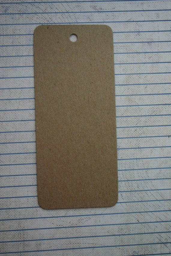 Bare chipboard die cuts large rounded edge tag diecuts