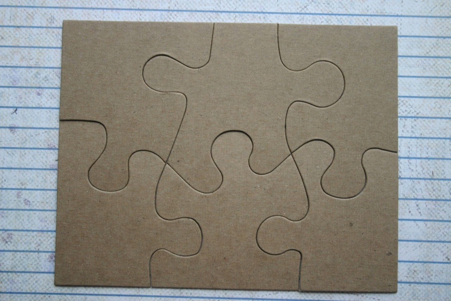6 piece jigsaw puzzle bare chipboard die cuts diecut zoom pronofoot35fo Choice Image