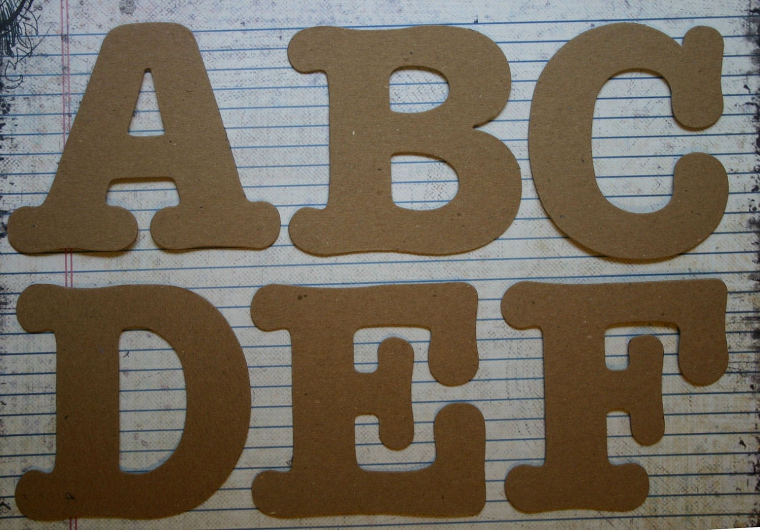 Chipboard Letters Ideas ~ Inch serif style uppercase raw chipboard alphabet
