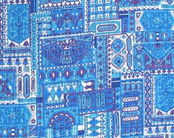 Vintage Fabric- 1960s Faux Batik
