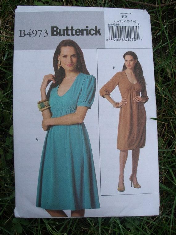 Knit Fabric Dress Pattern : Butterick 4973 dress pattern b4973 knit fabric short or long