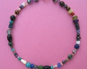 Gemstone Bracelet, Sterling Silver, Extravaganza in Gems, Semi-Precious, One of a Kind, Shimmer Shimmer