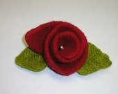 Quick Gift  Holiday Gift Knitting Pattern for Felted Flower Pins  Quick Felted Flower Pin Knitting Patterns Felting Patterns for Flower Pins