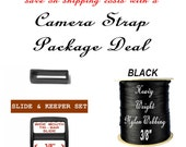 """20 SETS - Camera Strap Package Deal - 3/8"""" - Strap Adjuster, Slide and Keeper SET AND 10 Yards Heavy Nylon Webbing - Your Choice of 1 Color"""