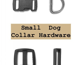 """10 SETS - 3/8"""" - Small DOG Collar - Black or White"""