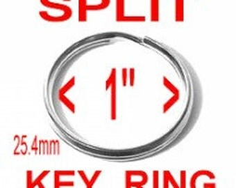 "20 PIECES - 1"" - Split Rings Key Rings, 1 inch, NICKEL Plate Finish"