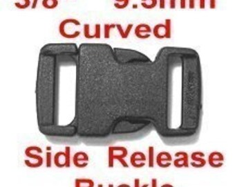 """20 BUCKLES - 3/8"""" - BREAK Away Curved Side Release, 3/8 inch, Strap Buckle, Plastic, 9.5mm, NON adjusting"""