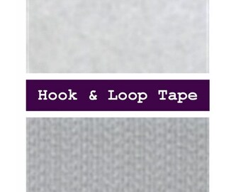 """25 YARDS -  5/8"""" - Hook and Loop, Sew On, 5/8 inch, 16mm - WHITE or BLACK"""