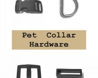 """20 SETS - 5/8"""" - Dog Collar Kits, WIDE Mouth, 80 Pieces, 15.8mm"""