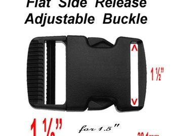 """8 BUCKLES - 1 1/2"""" - Flat or Chamber - SIDE RELEASE Buckle, 1.5, 38mm, New Style"""