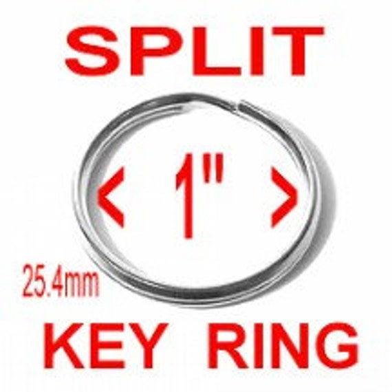 "20 PIECES - 1"" - Split Rings Key Rings, 1 inch, NICKEL or BRASS Plate Finish"