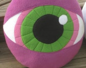 Eyeball pillow- purple