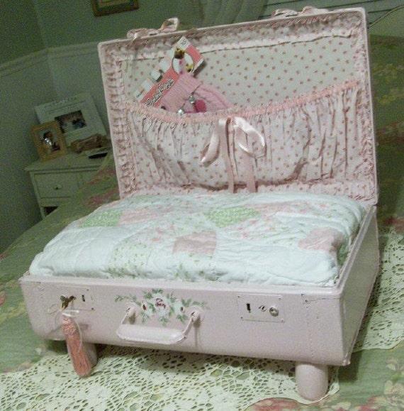 dog or cat bed shabby chic cottage vintage by pinkpaperrose. Black Bedroom Furniture Sets. Home Design Ideas