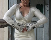 Hempress Divine Dress with long hand-stamped sleeves