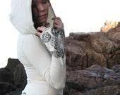 Hemp top with hood,long sleeve shirt,hoodie,wrap top,Herban Devi,yoga clothing,women top,women sweater,winter clothes,hemp,eco friendly